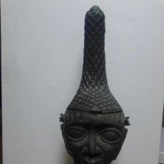 Arte: CABEZA AFRICANA DE BRONCE. Lote 146261006