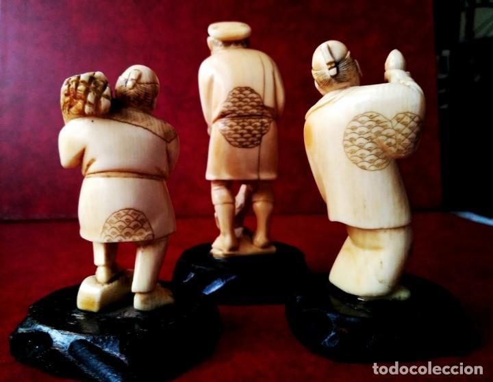 Arte: Escenas costumbristas. Marfil de elefante. (Años 30-40) - Foto 6 - 146642198