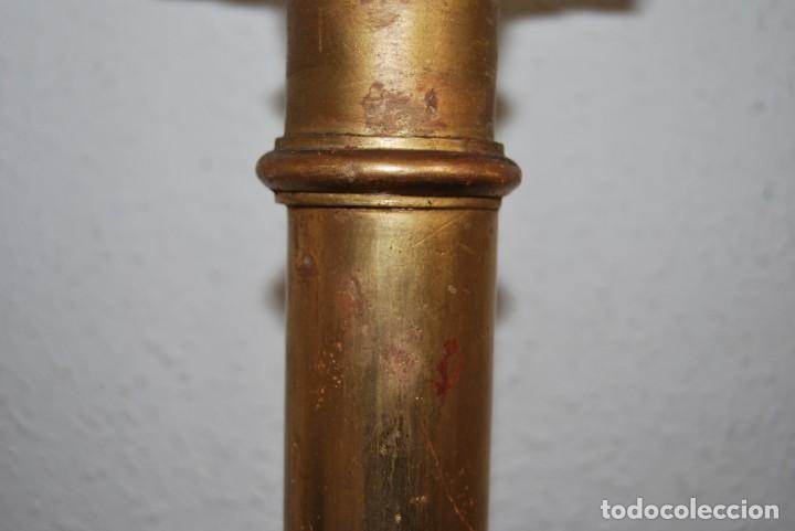Arte: COLUMNA DE MADERA TALLADA - CAPITEL CORINTIO - PAN DE ORO - ALTAR - IGLESIA - SIGLO XIX - Foto 13 - 146857266