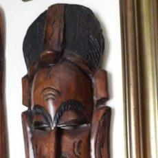 Arte: FIGURA AFRICANA TALLADA A MANO 40 CM ALTURA!!!!!!!!. Lote 146950386