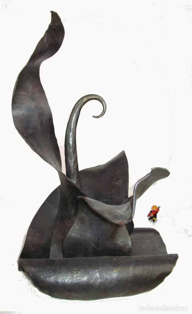 Arte: PRECIOSA ESCULTURA EN HIERRO FORJADA A MANO - Foto 4 - 147265850