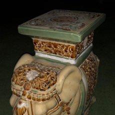 Arte: ELEFANTE , TAHILANDIA, 40X40 CMS. Lote 158205006