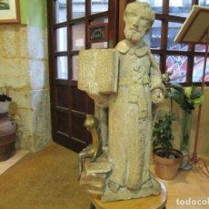 Arte: ANTIGUA TALLA ESCULTURA EN PIEDRA CANTERIA - MONJE RELIGIOSO PREDICADOR - XVIII + INFO Y FOTOS. 1S. Lote 147653974
