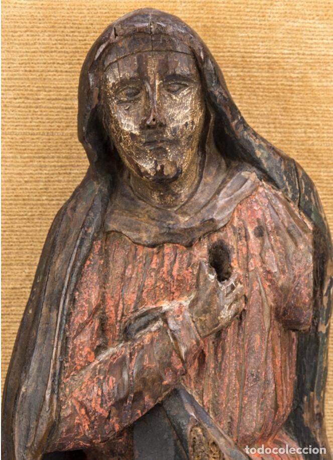 Kunst: Dolorosa. 43cm Talla de madera S. XVII. Escuela española - Foto 2 - 140493309