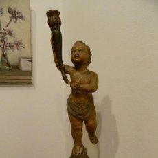 Arte: CANDELERO VENECIANO, PUTTO, ESCUELA ITALIANA. Lote 147734198