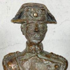 Arte: ESCULTURA EN BRONCE BUSTO DE UN OFICIAL DE LA GUARDIA CIVIL, FIRMADA VALLEJO. Lote 147818884