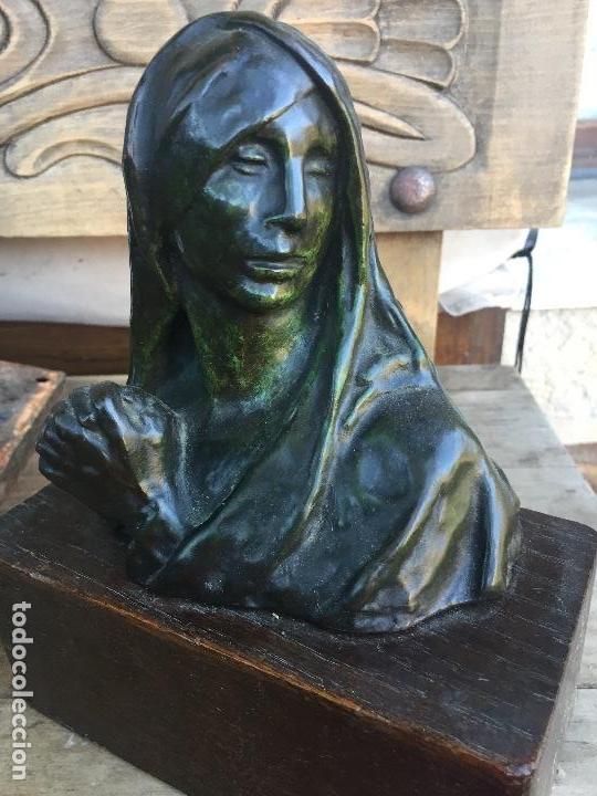 ESCULTURA CONSTANTIN MEUNIER ORIGINAL FIRMADA S XIX SELLO FUNDICIÓN (Arte - Escultura - Bronce)