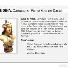 Arte: MAGNIFICA TERRACOTA ART NOUVEAU FIRMADA Y NUMERADA. Lote 148057374