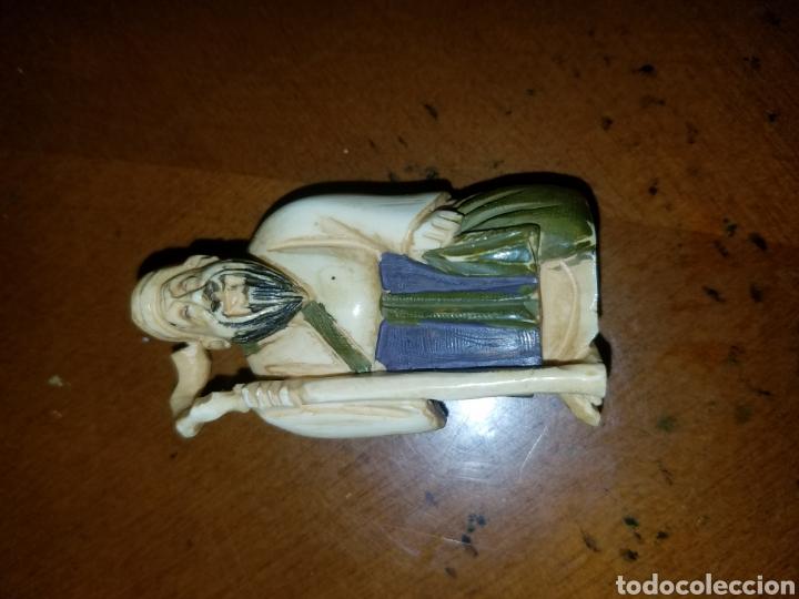 Arte: Antiguo netsuke policromado en marfil - Foto 7 - 80702050