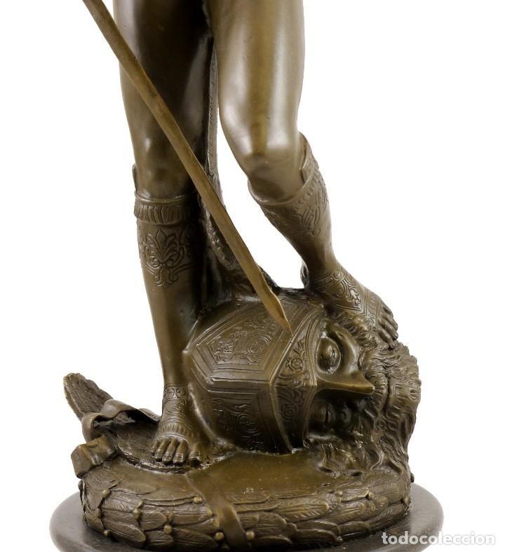 Arte: PRECIOSA ESCULTURA DE GRAN TAMAÑO, DEL DAVID DE BRONCE DE DONATELLO (64cm x 13,4kg) - Foto 3 - 40257269