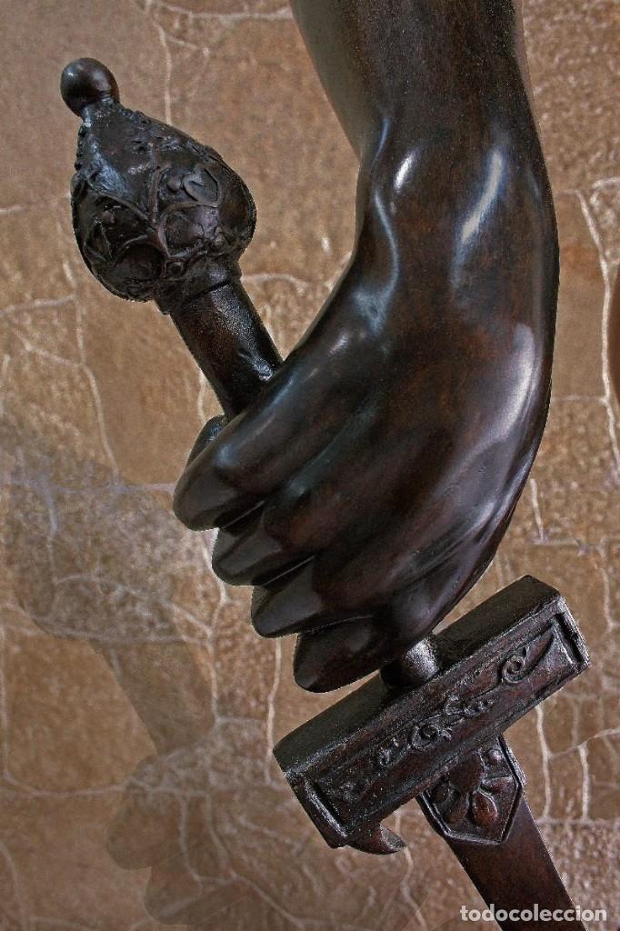 Arte: PRECIOSA ESCULTURA DE GRAN TAMAÑO, DEL DAVID DE BRONCE DE DONATELLO (64cm x 13,4kg) - Foto 13 - 40257269