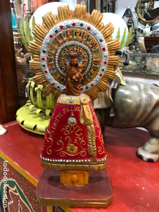 TALLA MADERA VIRGEN DEL PILAR DE ZARAGOZA - MEDIDA 44 CM - RELIGIOSO (Arte - Escultura - Madera)