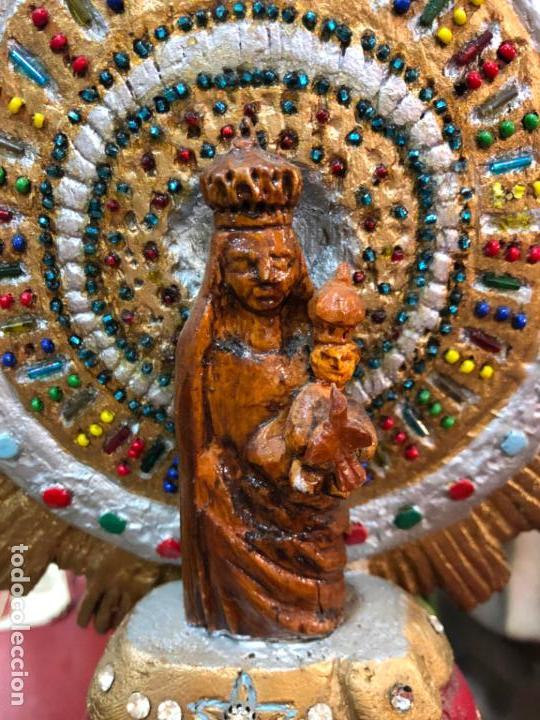Arte: TALLA MADERA VIRGEN DEL PILAR DE ZARAGOZA - MEDIDA 44 CM - RELIGIOSO - Foto 12 - 148521226