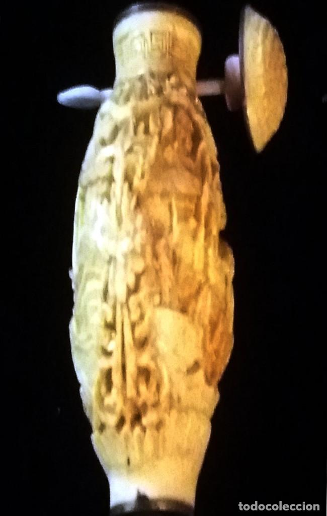 Arte: PRECIOSO ESENCIERO CHINO SUPER TALLADO EN MARFIL, MARFILINA O RESINA.REPLICA DE LA DINASTIA S. XVII. - Foto 4 - 148559710