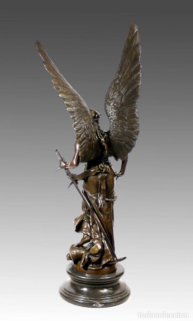 Arte: ESPECTACULAR ESCULTURA DE GRAN TAMAÑO DEL ANGEL DE LA PAZ (95,4cm x 29,7kg) - Foto 3 - 45944585