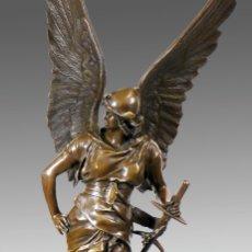 Arte: ESPECTACULAR ESCULTURA DE GRAN TAMAÑO DEL ANGEL DE LA PAZ (95,4CM X 29,7KG). Lote 45944585