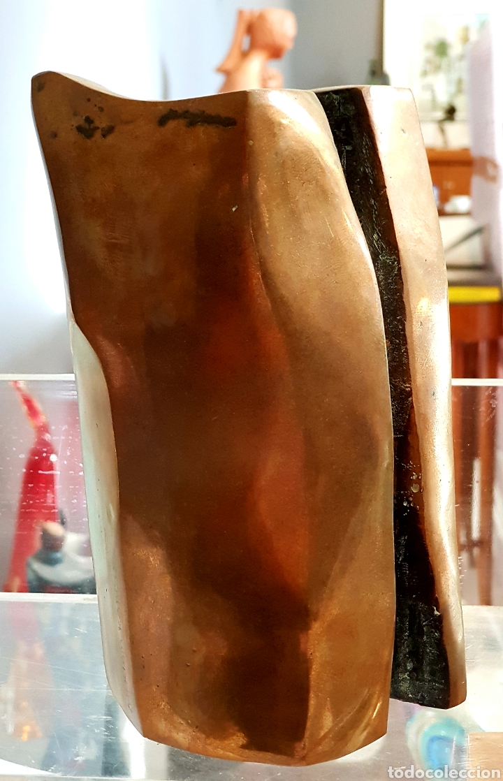 Arte: Miriam Karoly (Viena 1926-1994) magnífica escultura abstracta (original) bronce, firmada. - Foto 5 - 148900801