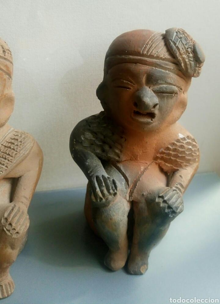 Arte: Bonita pareja figuras esculturas barro - Foto 2 - 149445085