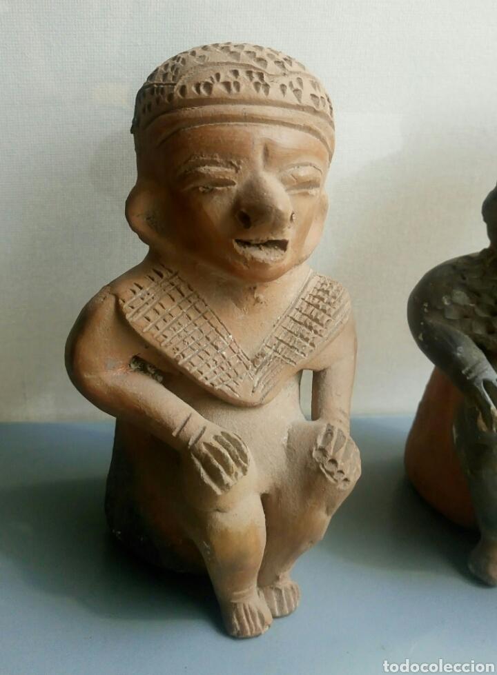 Arte: Bonita pareja figuras esculturas barro - Foto 3 - 149445085