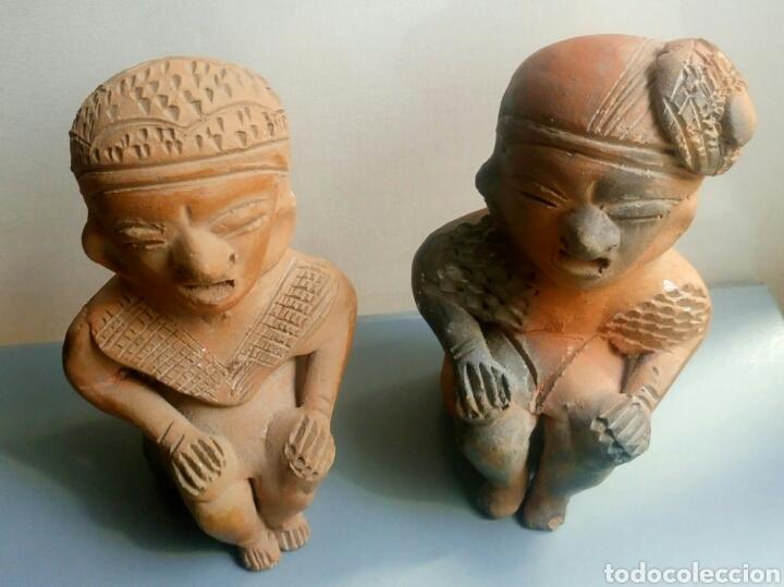 Arte: Bonita pareja figuras esculturas barro - Foto 4 - 149445085