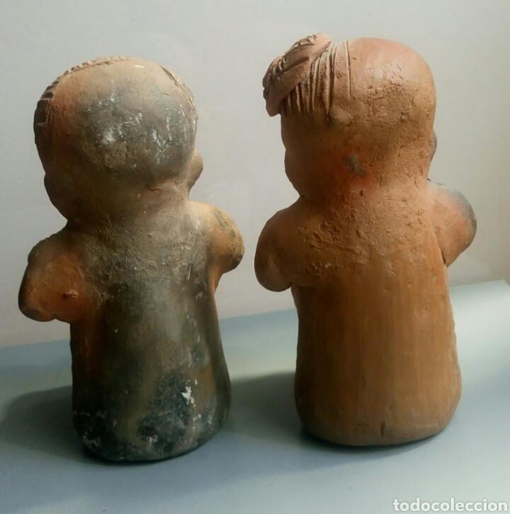 Arte: Bonita pareja figuras esculturas barro - Foto 6 - 149445085