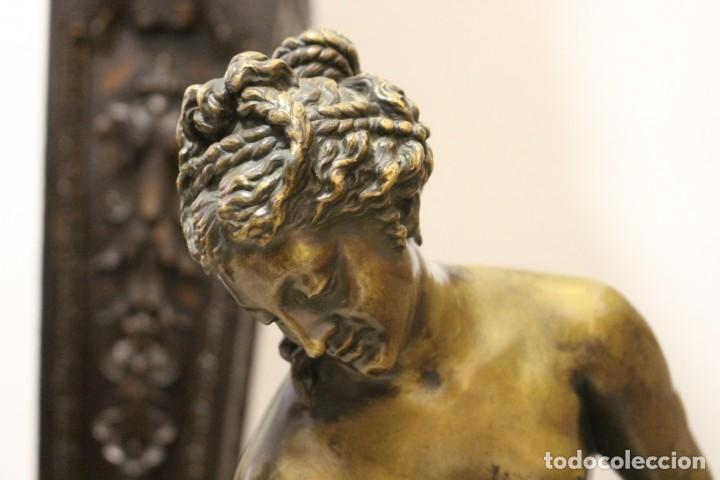 Arte: escultura de bronce, Venus au Bain de Allegrain, finales del siglo XIX. 70 cm - Foto 2 - 149578034