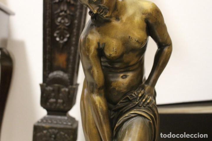 Arte: escultura de bronce, Venus au Bain de Allegrain, finales del siglo XIX. 70 cm - Foto 3 - 149578034