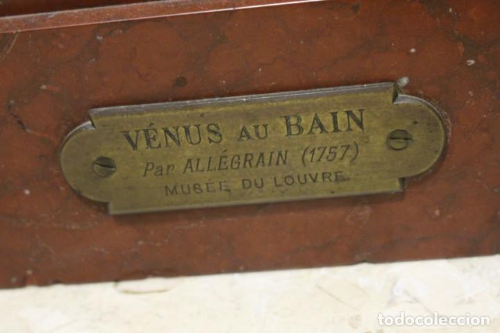 Arte: escultura de bronce, Venus au Bain de Allegrain, finales del siglo XIX. 70 cm - Foto 8 - 149578034