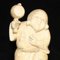 Arte - INTERESANTE FIGURA DE MANUFACTURA CHINA REALIZADA EN MARFIL TALLADO - 150086937
