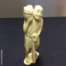 Arte: OKIMONO, MARFIL ORIENTAL FIRMADO. CERTIFICADO DE AUTENTICIDAD.. Lote 150220774