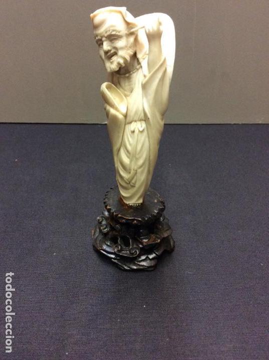 OKIMONO JAPONES. TALLA DE MARFIL S. XIX. CERTIFICADO AUTENTICIDAD. (Arte - Escultura - Marfil)