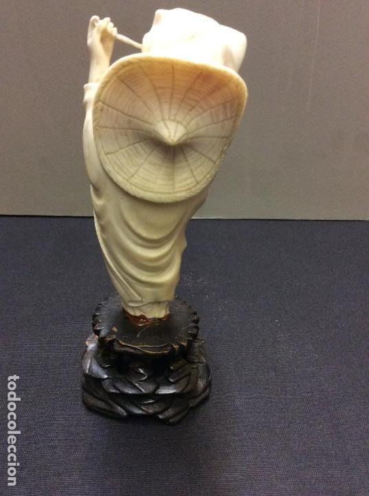Arte: OKIMONO JAPONES. TALLA DE MARFIL S. XIX. CERTIFICADO AUTENTICIDAD. - Foto 6 - 150266622