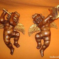 Arte: ANGELITOS ANTIGUOS (TALLAS MADERA)(2). Lote 150777082