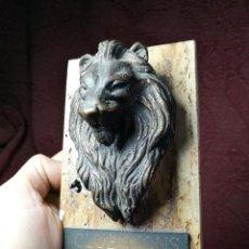 Arte: ESCULTURA BRONCE XXV ANIVERSARIO CLUB LIONS LEONES TARRAGONA -1991- REF-1AC. Lote 150968138