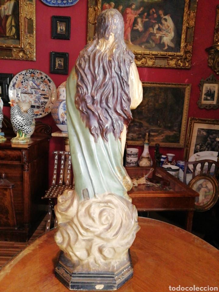 Arte: Inmaculada en madera tallada y policromada Olot siglo XIX - Foto 5 - 147774686