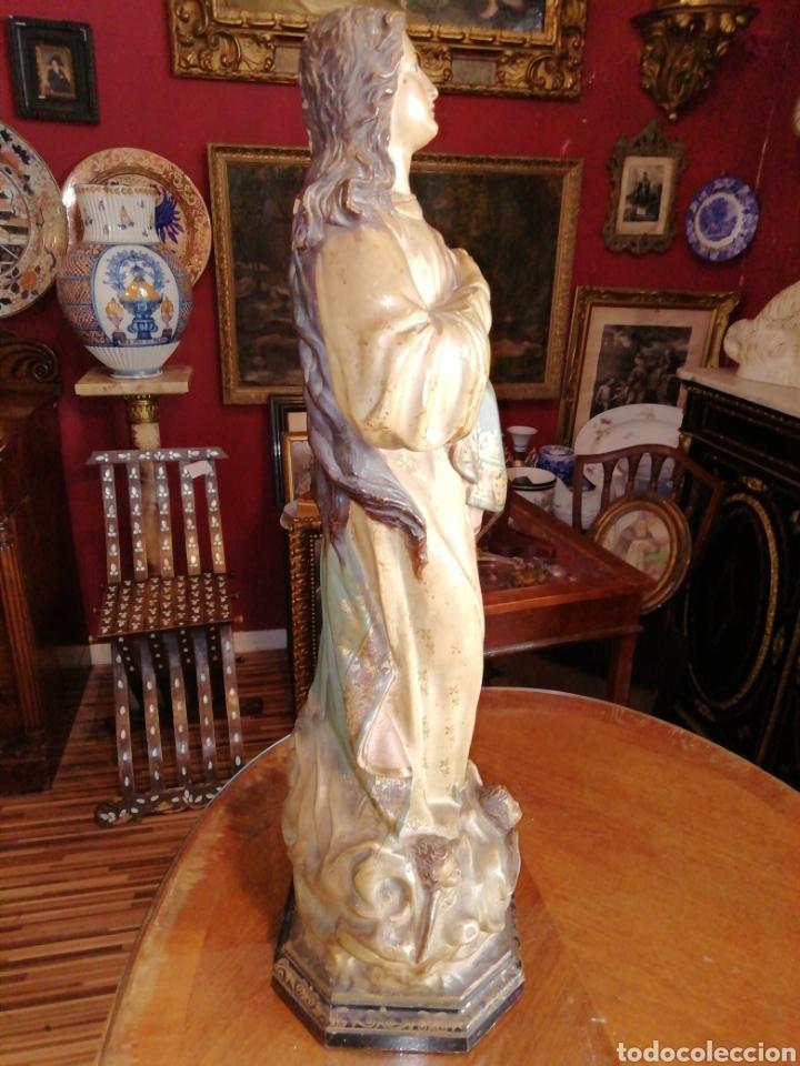 Arte: Inmaculada en madera tallada y policromada Olot siglo XIX - Foto 9 - 147774686