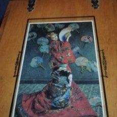 Arte: ESCULTURAS DE HUESO DE CASI 33 CM SIN PEANAS . SOLO FIGURAS CON CAJA DE MADERA.. EMPERADORES. Lote 151430673
