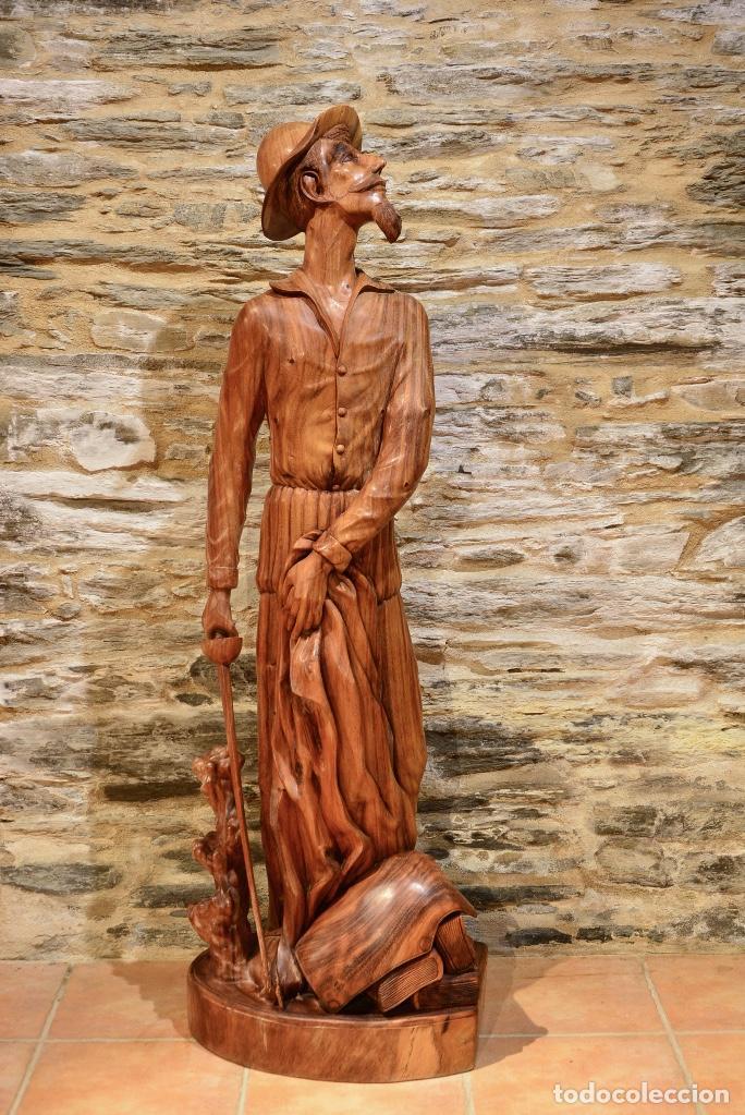 TALLA GRANDE DE DON QUIJOTE (Arte - Escultura - Madera)
