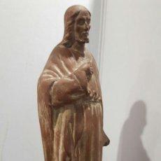 Arte: ESCULTURA MARTRUS I RIERA JAUME// ,ESCULTURA DEL SAGRADO CORAZON // (TERRACOTA ). Lote 152302382