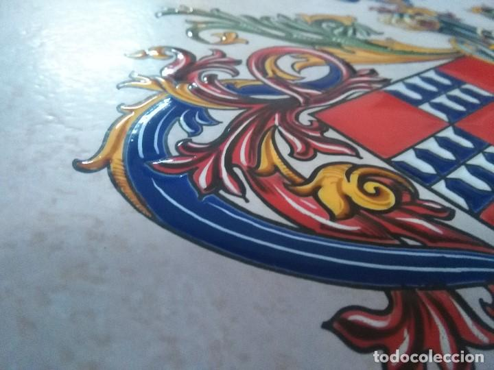 Arte: CUADRO ESCUDO HERALDICO PORCELANA ALVAREZ CARBAJO - Foto 6 - 152374298
