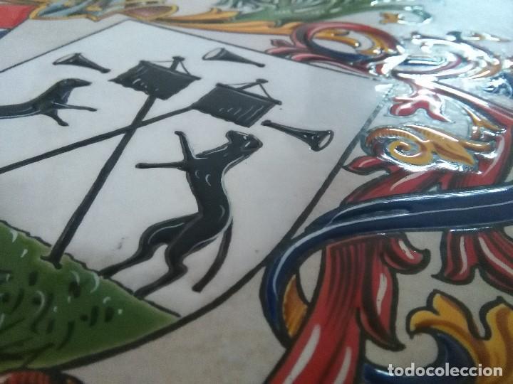 Arte: CUADRO ESCUDO HERALDICO PORCELANA ALVAREZ CARBAJO - Foto 7 - 152374298