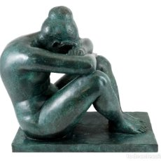 Arte: ESCULTURA DE BRONCE PATINADO. ARTE MODERNO POR A. MAILLOL- 1902-1909 (33CM & 8,7KG). Lote 152497634