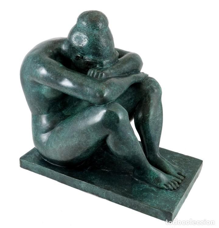 Arte: ESCULTURA DE BRONCE PATINADO. ARTE MODERNO POR A. MAILLOL- 1902-1909 (33cm & 8,7kg) - Foto 2 - 152497634