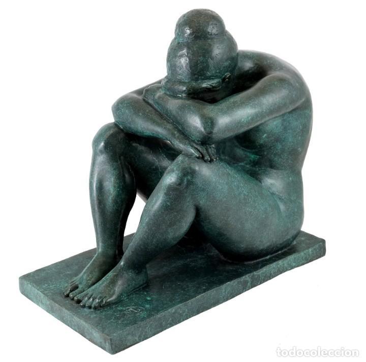 Arte: ESCULTURA DE BRONCE PATINADO. ARTE MODERNO POR A. MAILLOL- 1902-1909 (33cm & 8,7kg) - Foto 3 - 152497634
