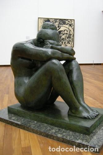 Arte: ESCULTURA DE BRONCE PATINADO. ARTE MODERNO POR A. MAILLOL- 1902-1909 (33cm & 8,7kg) - Foto 9 - 152497634