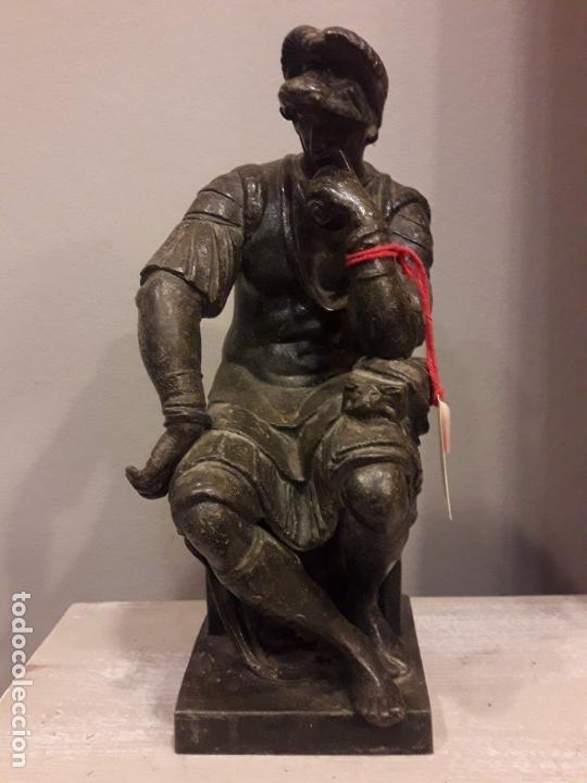 ESCULTURA DE LORENZO DE MÉDICI, BRONCE - S. XIX (Arte - Escultura - Bronce)