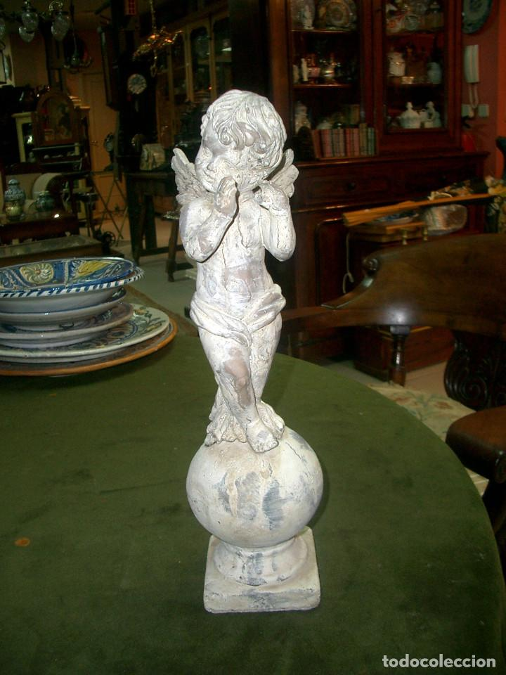 ANTIGUO ANGELITO EN TERRACOTA, ALTURA 40CM (Arte - Escultura - Terracota )