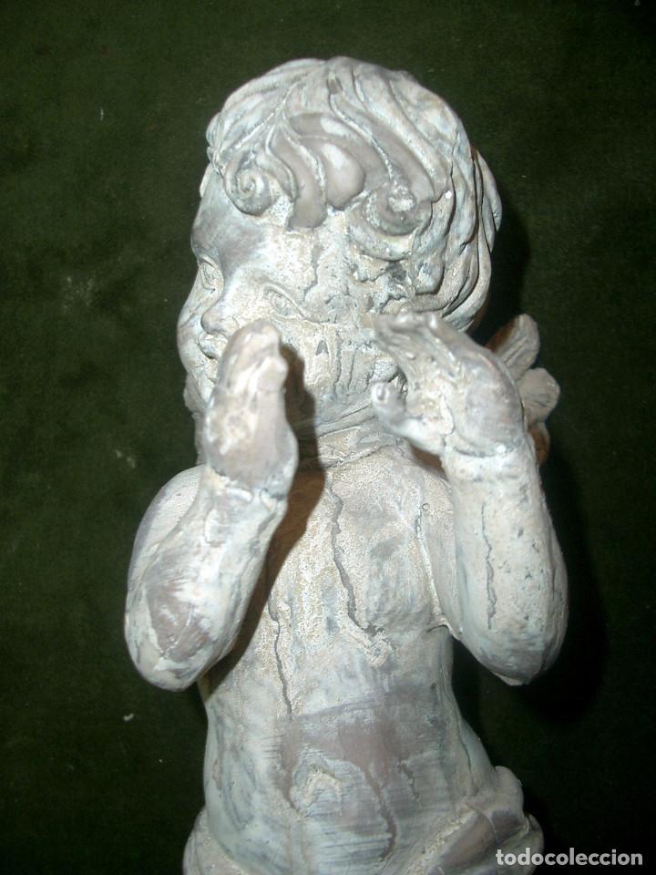 Arte: Antiguo angelito en terracota, altura 40cm - Foto 7 - 152873466