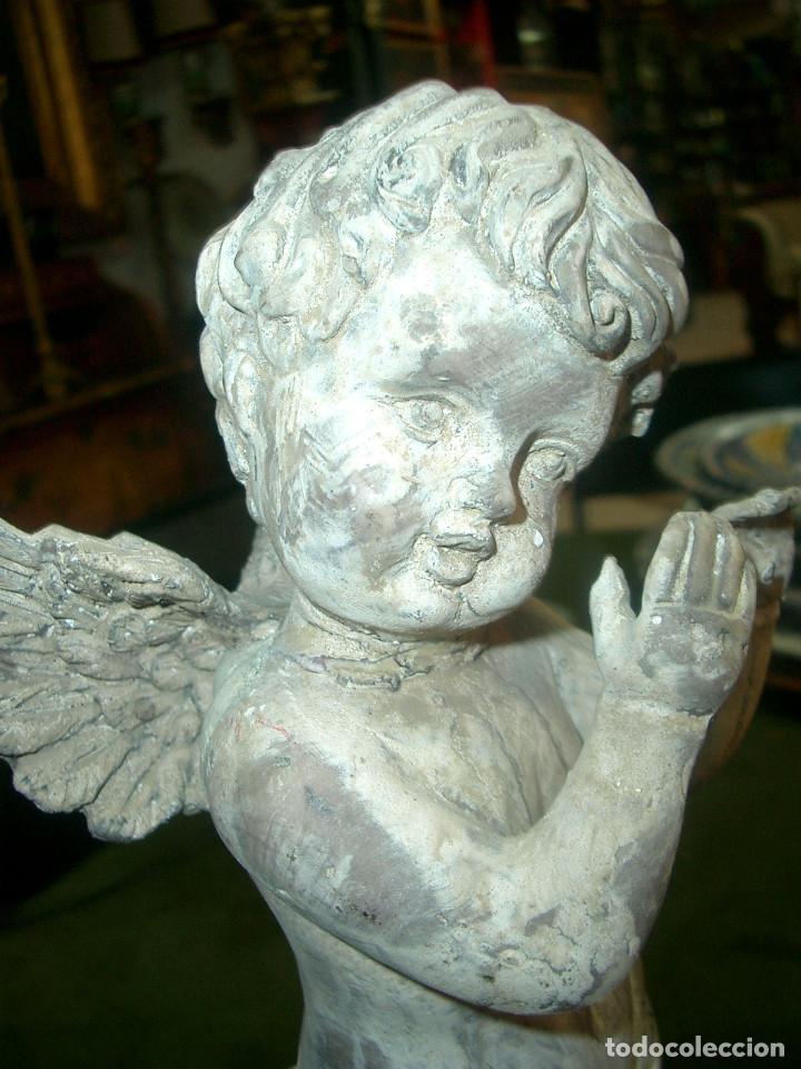 Arte: Antiguo angelito en terracota, altura 40cm - Foto 9 - 152873466