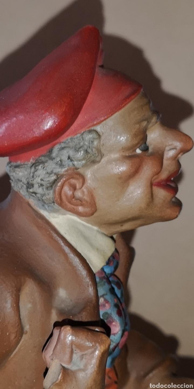 Arte: Figura realizada en terracota de Ignasi Buxo, principios del siglo veinte, le falta un dedo - Foto 8 - 152883618